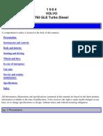 760 Turbo Diesel 1984 Owners Manual