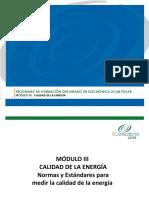 Presentacion Módulo III CALIDAD de LA ENERGÍA v2 Normas y Estándares