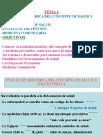 Tema 1. Evolución Histórica Del Concepto de Salud y Salud Pública
