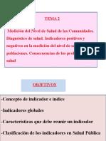 Tema 2. La Medida de La Salud. Indicadores