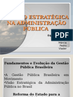 Gestão estratégica na administração pública