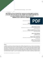 Delimitação Automática de Bacia de Drenagem e Análise Multivariada de Atributos Morfométricos Usando MDE Hidrologicamente Corrigido