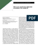 De-escabation in Critically Ill