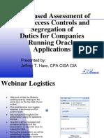 Risk Based Access Controls Webinar Dec09