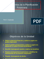 6.- Fundamentos de La Planeación Financiera