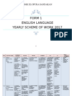 Form One 2017 Yearly Scheme of Work