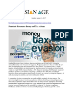 Standard Deterrence Theory and Tax Reform
