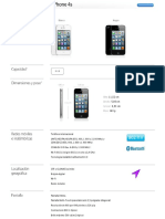 Apple - iPhone - Especificaciones técnicas del iPhone 4s