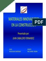 Materiales Innovadores en La Construcción Exposicion