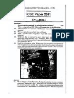 Icse English Class 10 2011