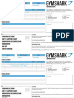 Gymshark Returns Note