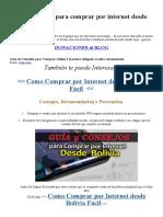 Guía y Consejos Para Comprar Por Internet Desde Bolivia