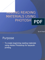 Making Reading Materials Using Photoshop
