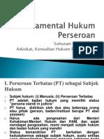 Revisi Fundamental Hukum Perseroan ( Bapak Suhunan )