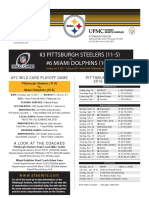 Miami Dolphins vs. Pittsburgh Steelers (AFC Wild Card Jan. 8)