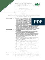8.1.3.1 Sk Tentang Waktu Penyampaian Laporan Hasil Pemeriksaan Lab Cito