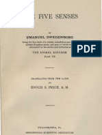 Em Swedenborg the FIVE SENSES Being Part Three of the Animal Kingdom 1744 Enoch S Price Swedenborg Scientific Association 1914