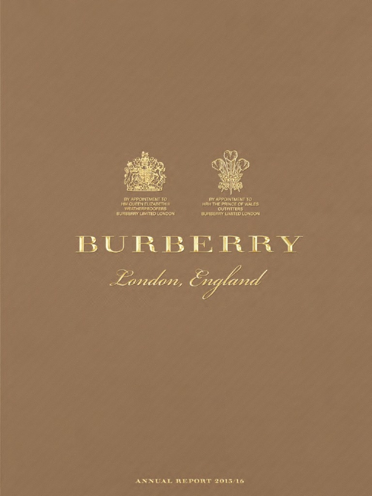 Burberry Annual Report Retail Brand - Invoice sheets free download burberry outlet online store