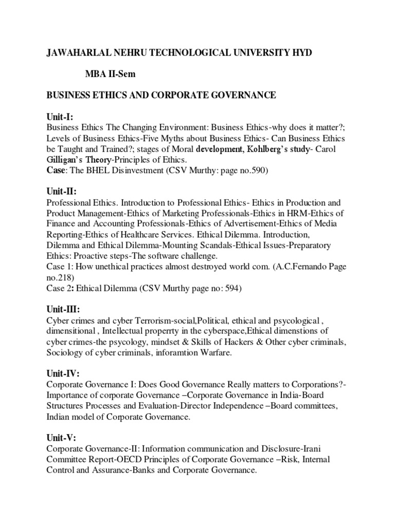 conormi • Blog Archive • Business ethics notes for mba pdf