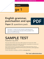 Sample Ks1 EnglishGPS Paper2 Questions Instructions