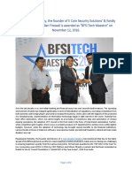 Pavankumar Bolisetty_Winner of BFSI Tech Maestro Award