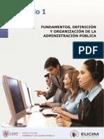 1 Fundamentos, Administración Pública