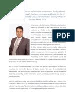 Pavan Kumar Bolisetty_Global CISO of the Year Award