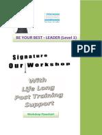 Be Your Best - Leader Workshop