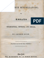 George Bush NEW CHURCH MISCELLANIES or ESSAYS New York 1855