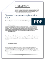 Types of Companies Registered in SECP