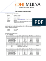 Surat Jaminan Supply Batubara-kalsel