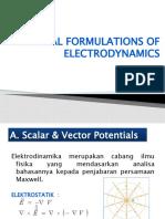 Potential Formulation of Electrodynamic