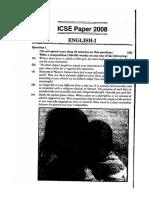 Icse English Class 10 2008