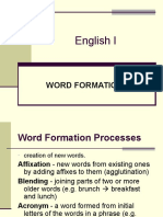 English language , Word formation