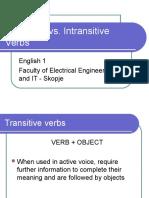 Transitive vs Intransitive Verbs