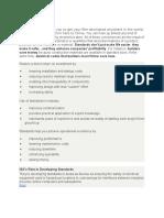 Instrumentation Standard Summary
