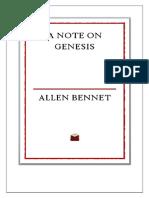 Note on Genesis