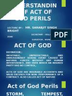 Understanding of Act of God Perils