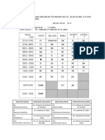 Jadual Kelas 2016 WORD