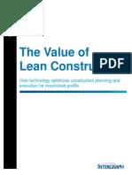 The Value of Lean Construction, SmartPlant