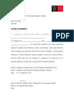 SSIDC 2016 Adult's Letter of Indemnity