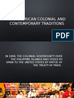 The American Colonial and Contemporary Traditions Pptx