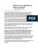 Exercise Tied to Lower Risk for 13 Types of Cancer