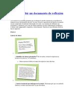 Cómo Escribir Un Documento de Reflexión