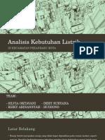 Analisis Kebutuhan Listrik ( Prasarana wilayah dan kota )
