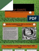 SF Giants Powerpoint Presentation RalphMorgan