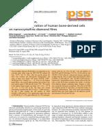 97 Improved Adhesion Growth Cells on Nanocrystalline Diamond Films