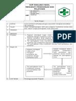 SOP 8.7.3 Evaluasi Hasil Mengikuti Pendidikan Dan Pelatihan Bukti Pelaksanaan Evaluasi
