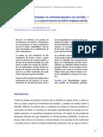 Utilidad de Las Pruebas de Aprovechamiento en Español