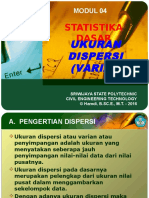 Modul 04 Statistika - Ukuran Varian